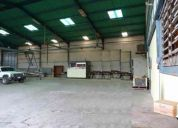 Alquilo galpon 2000 area techada.terreno 5000 m2 .san vicent bs70.000