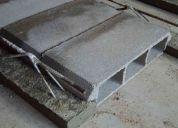 Fabricación de placas de concreto
