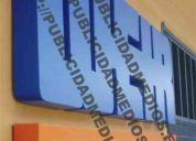 Avisos corpóreos, 04248463870 acero, acrilicos, neon