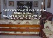 Casa vacacional 16-17-18-19-20-21-22-23-25-25 isla de margarita