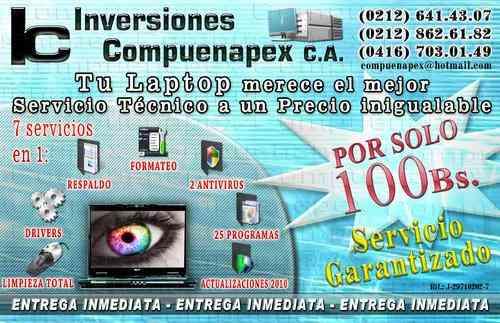 COMPUENAPEX SERVICIO TECNICO COMPUTADORAS y LAPTOP, 7 en 1, Repar