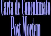 Carta de concubinato post mortem