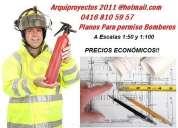 Permiso de bombero-conformidad de uso-planos en autocad .precios muy solidarios