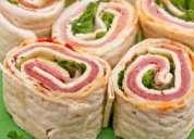 Delivery gastronomia catering pasapalos refrigerios buffet para seminarios y cursos