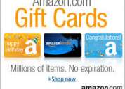 Compro o vendo gift cards amazon