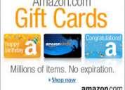 Compro o vendo gift cards amazon
