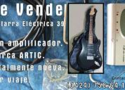 Kit guitarra elÉctrica 39 + amplificador artic + afinador digital