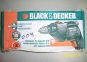 taladro percutor black&decker 10mm 3/8, modelo 7955