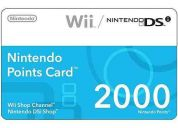 Wii points 2000 puntos wii nintendo ds