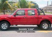 En venta, 0 kilometros ford ranger 2011. solo contado. telf: 0414-5692081