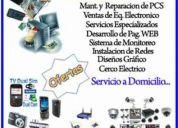 Servicio de reparacion de pc  y lapto a domicilio