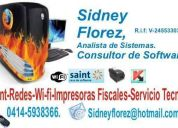 Saint professional +, post touch, servicio  instalacion, instalacion de impresora fiscal.