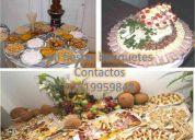 pasapalos buffett comidas decorado con frutas dulces decoracion de mesas de picar