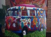 Alquiler de furgoneta hippie para eventos temáticos años 60s