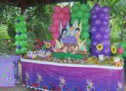 DecoraciÓn con globos, mesa fantasÍa, piÑata, torta, recuerdos, invitaciones personalizas