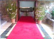 Alfombra roja para evento. -- alquiler de alfombra o pasillo rojo para evento