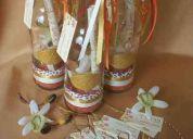 Invitacion en botella y tubos de ensayo boda, bautizo, comuniÓn, 15 aÑos y mÁs...