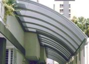 Toldos y techos de policarbonato / vinil / lona