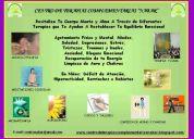 Terapias: reiki, flores de bach, auriculoterapia,