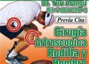 Dr. yuri arangu. traumatologia. cirugia de rodilla y hombro. cirugia codo y tobillo.