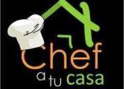 Chef en casa,cursos, talleres y seminarios
