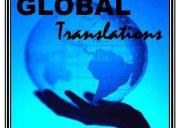 Global translations. traducciones de texto y simultáneas.