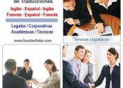 Servicio profesional de traducciones inglés / francés / español