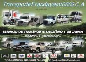 Transporte ejecutivo y de cargas para todo el pais