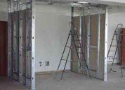 Instalacion, remodelacion, decoracion con drywall, techos, paredes, estructuras, tabiques.
