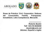 Abogado consultor (pregrado ucab, postgrado ucv)
