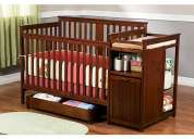 cuna  para  bebe  modelo delta - dakota crib and changer, cider