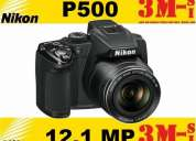 Nikon coolpix p500 12mp + memoria de 8 gb