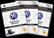 tarjetas playstation network  psn card 10 y 20 puntos