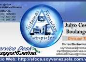 servicio técnico especializado en software, hardware, diseño de páginas web y redes