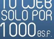 Paginas web desde solo 1000 bolívares!