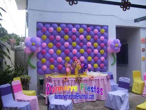 Decoración de salones con globos para baby shower - Imagui