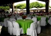 Alquiler de toldos 5x5 y mesas decoradas area loung puff