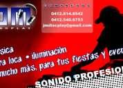 Servicio de discplay (sonido dj profesional) para tus fiestas y eventos especiales