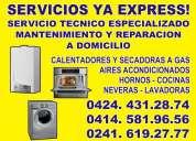 Tecnico en valencia-carabobo  calentadores cocinas hornos a gas 02416192777