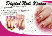 Tips uñas pre diseñados calidad digital