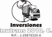 Viajes, mudanzas y transporte de carga