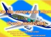 Compra en miami desde venezuela. envios de miami a todo el territorio nacional.