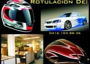 Rotulacion, rotulado, cascos, tanques de moto, apartamento, avisos, vehiculo.  etc