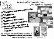 Tarjetas de presentación, volantes, afiches y todo para la proyección de su negocio!!!