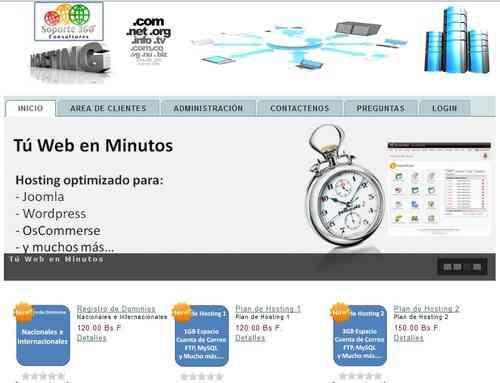 Dominios, Hosting, Joomla, Tiendas Virtuales, Redes Y Más...