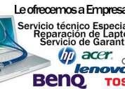 Servicio tecnico laptops, reparacion computadores, todas las marc