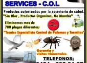 Fumigaciones services c.o.l control de roedores,termitas,palomas,garrapatas