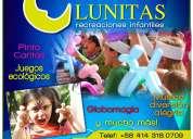 Lunitas recreacion de fiestas infantiles!