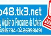 Alquiler de programa de loteria