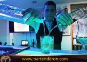 Cursos bartender profesional, coctelería, flair bartenderon